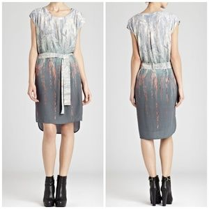 Reiss Helen Hanging Tree Print Shift Dress Size 4